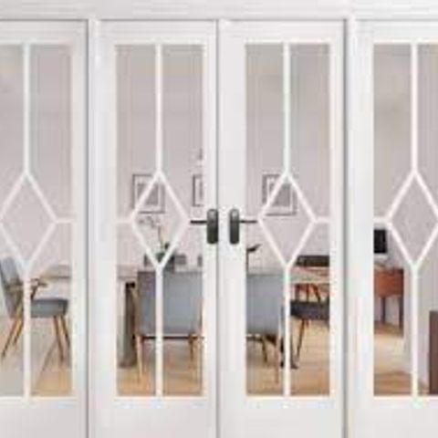 BOXED REIMS SOLID MDF FRENCH DOOR PRIMED SLAB