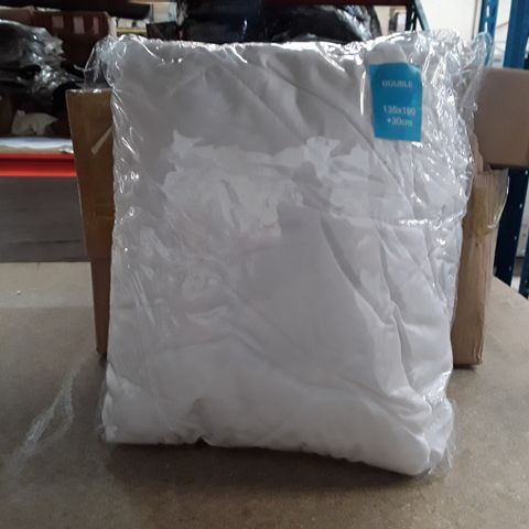 BAGGED WATERPROOF QUILTED MATTRESS PROTECTOR - DOUBLE