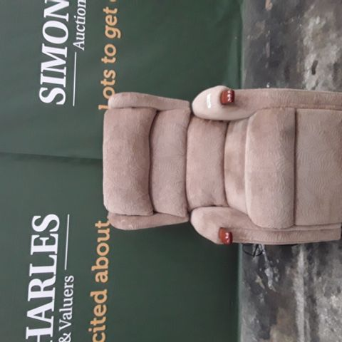 QUALITY  BROWN FABRIC POWER RECLINING ARMCHAIR