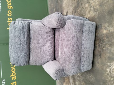 QUALITY G PLAN NEWBURY BOUCLE GREY FABRIC POWER DUEL ELEVATE/RECLINING EASY CHAIR