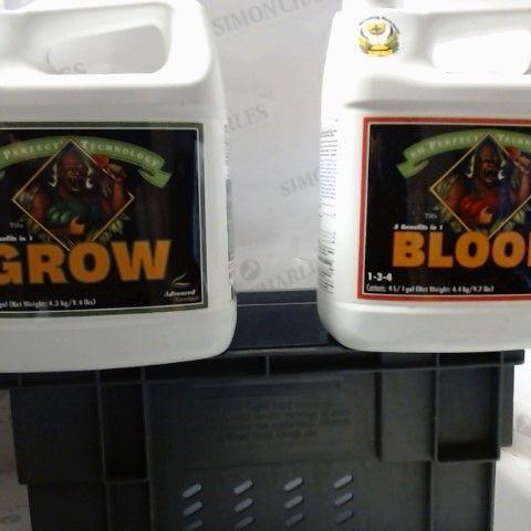 BLOOM & GROW 4L BOTTLES - PLANT GROWTH STIMULANTS