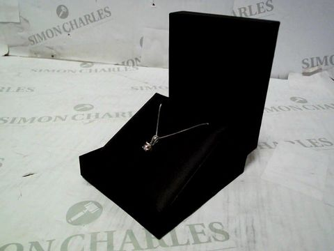 9CT WHITE GOLD 50 POINT DIAMOND SOLITAIRE NECKLACE
